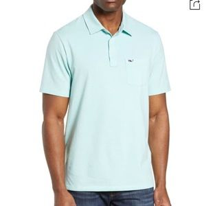 Vineyard vines men's polo two button pullover Med